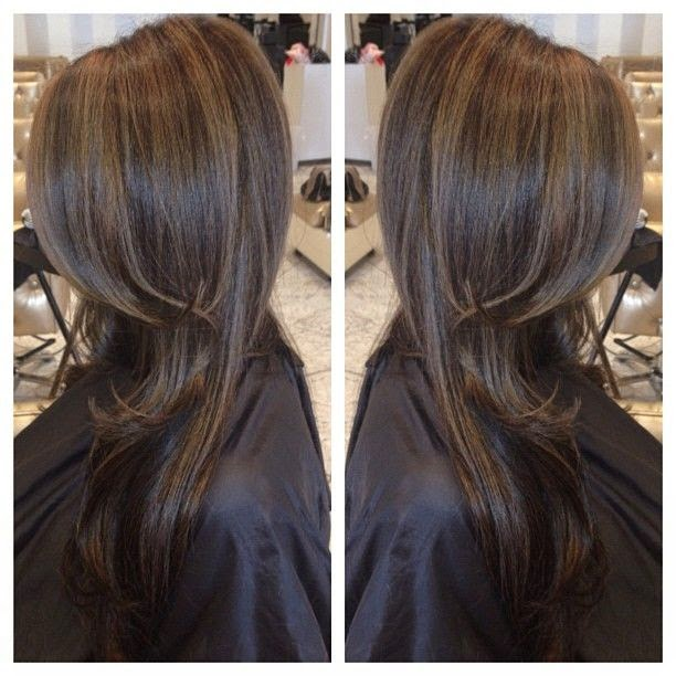 Dark brown hair with caramel highlights and lowlights we know advertisment pmusecretfo Images