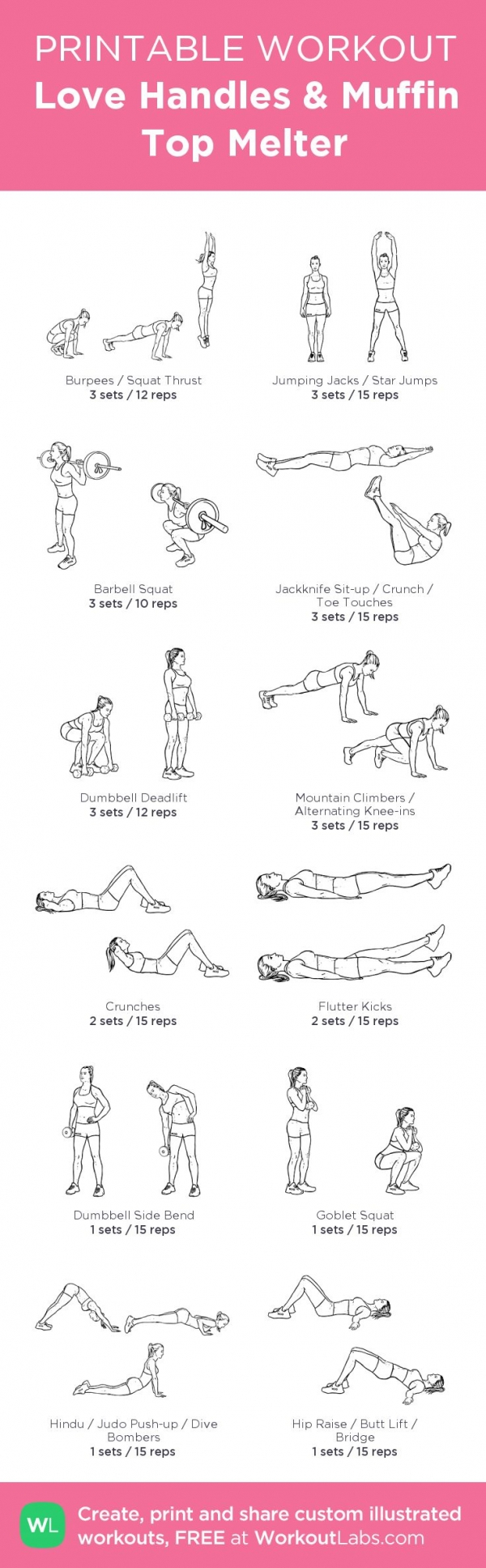 how to workout love handles at home