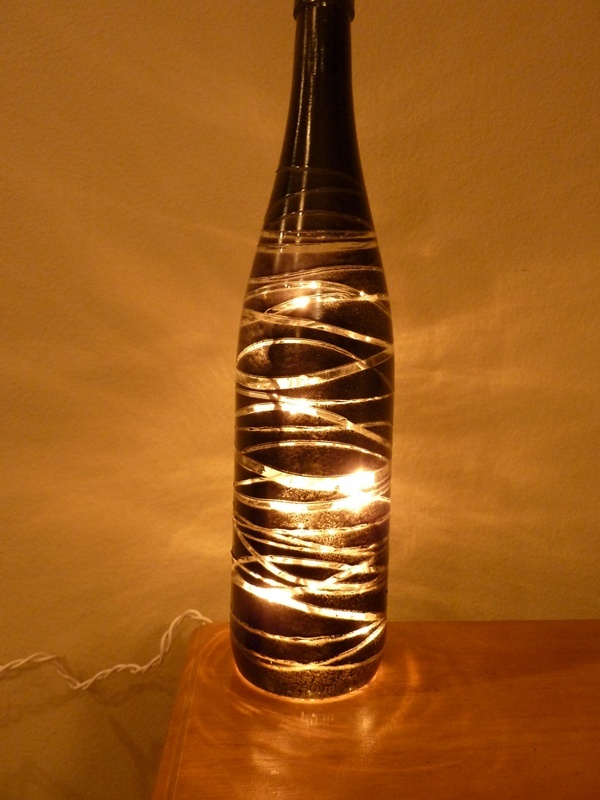 Wine bottle crafts with lights