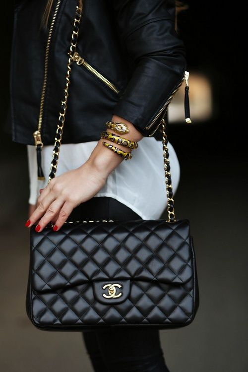 Chanel outfit.
