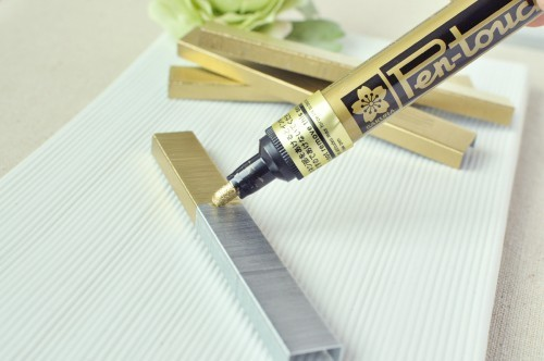A paint pen can change your staples for those special items like invitations and