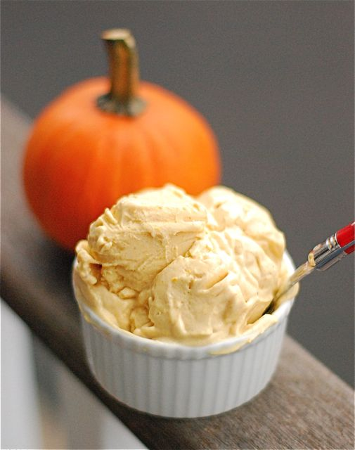 Pumpkin Frozen yogurt: 1 Cup Greek yogurt, 1 cup pumpkin puree, 1 T. honey, 1 t.