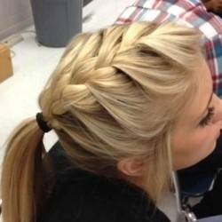 Top French Braid Pony