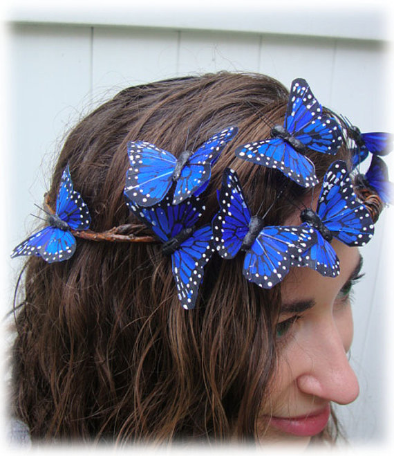 Blue Butterfly Woodland Crown We Know How To Do It