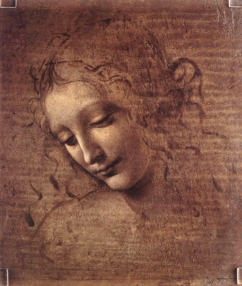 Leonardo DiVinci female head drawing