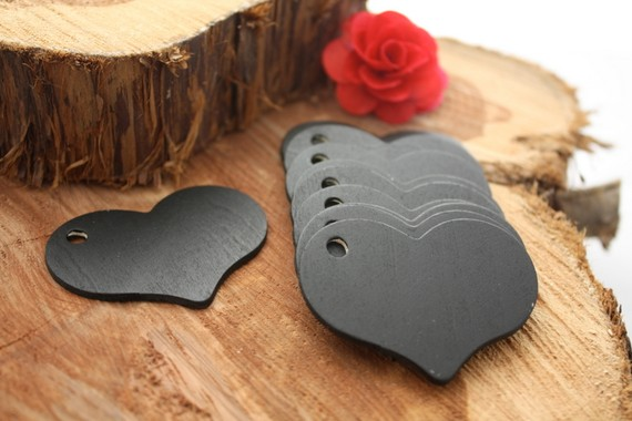 Chalk board gift tags! Reusable! This is so clever. These little wood cutouts ar