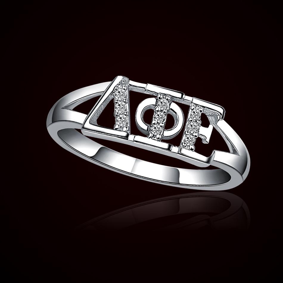 Delta Phi Epsilon Silver Ring (DPE-R001) – $35.00
