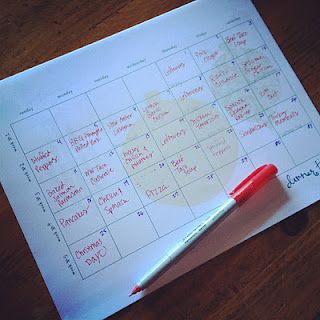 Monthly meal planning. This woman only spends about 350 dollars per month to fee