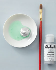 """Scratch-off""paint (like on lottery tickets) – one part dish soap, two"