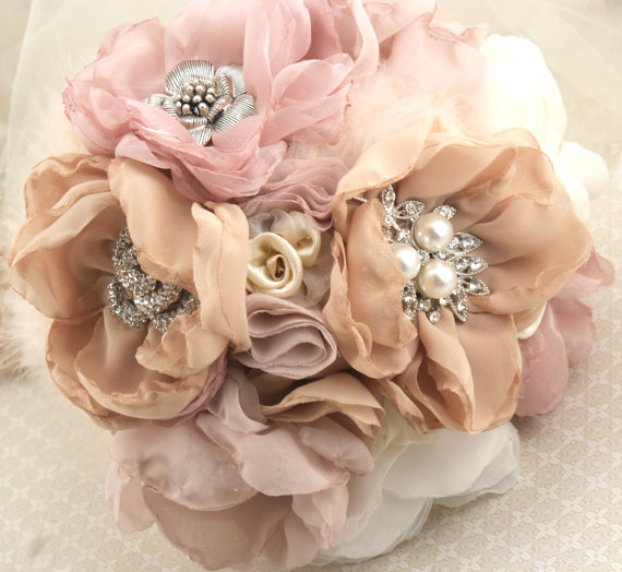 Brooch Bouquet Fabric Bouquet