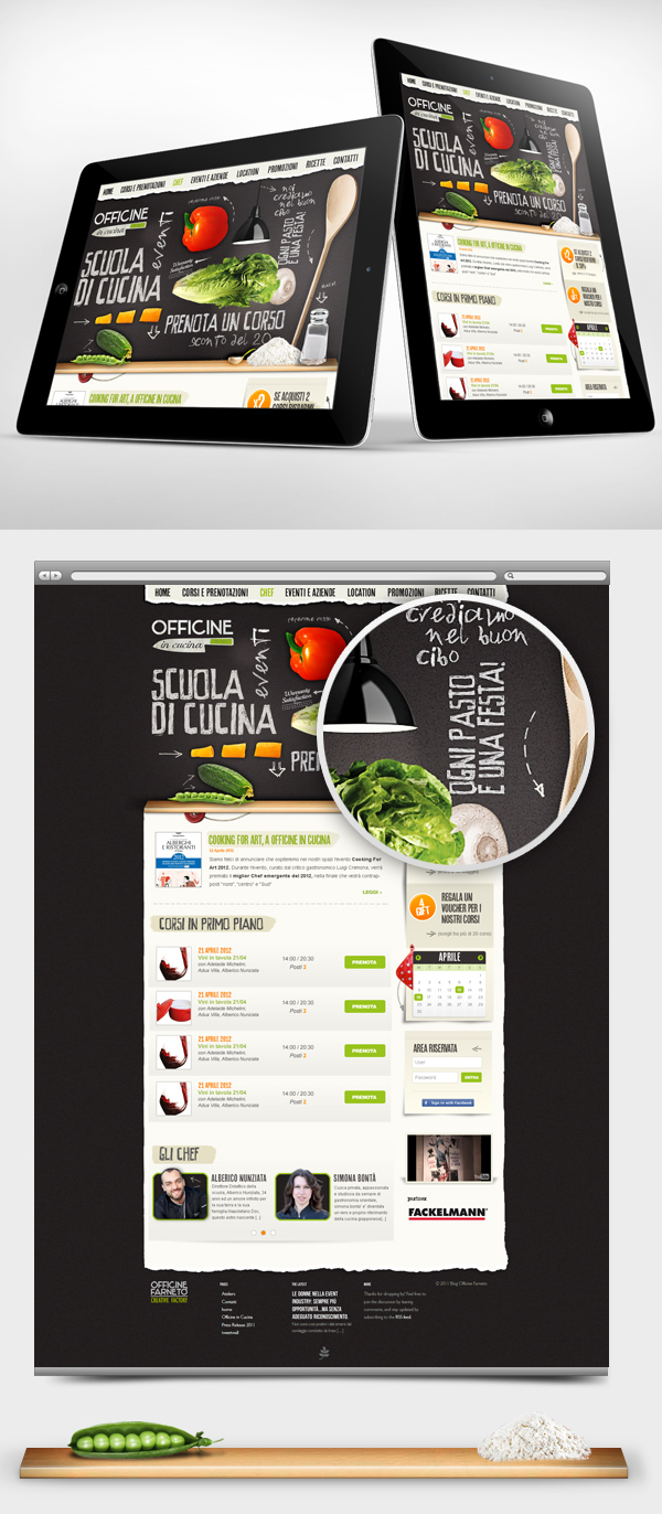 Officine in Cucina – Web interface Design by Gaia Zuccaro, via Behance