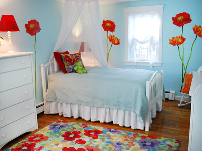 It says for kids' rooms..but I LOVE this..the combination of the blue with t