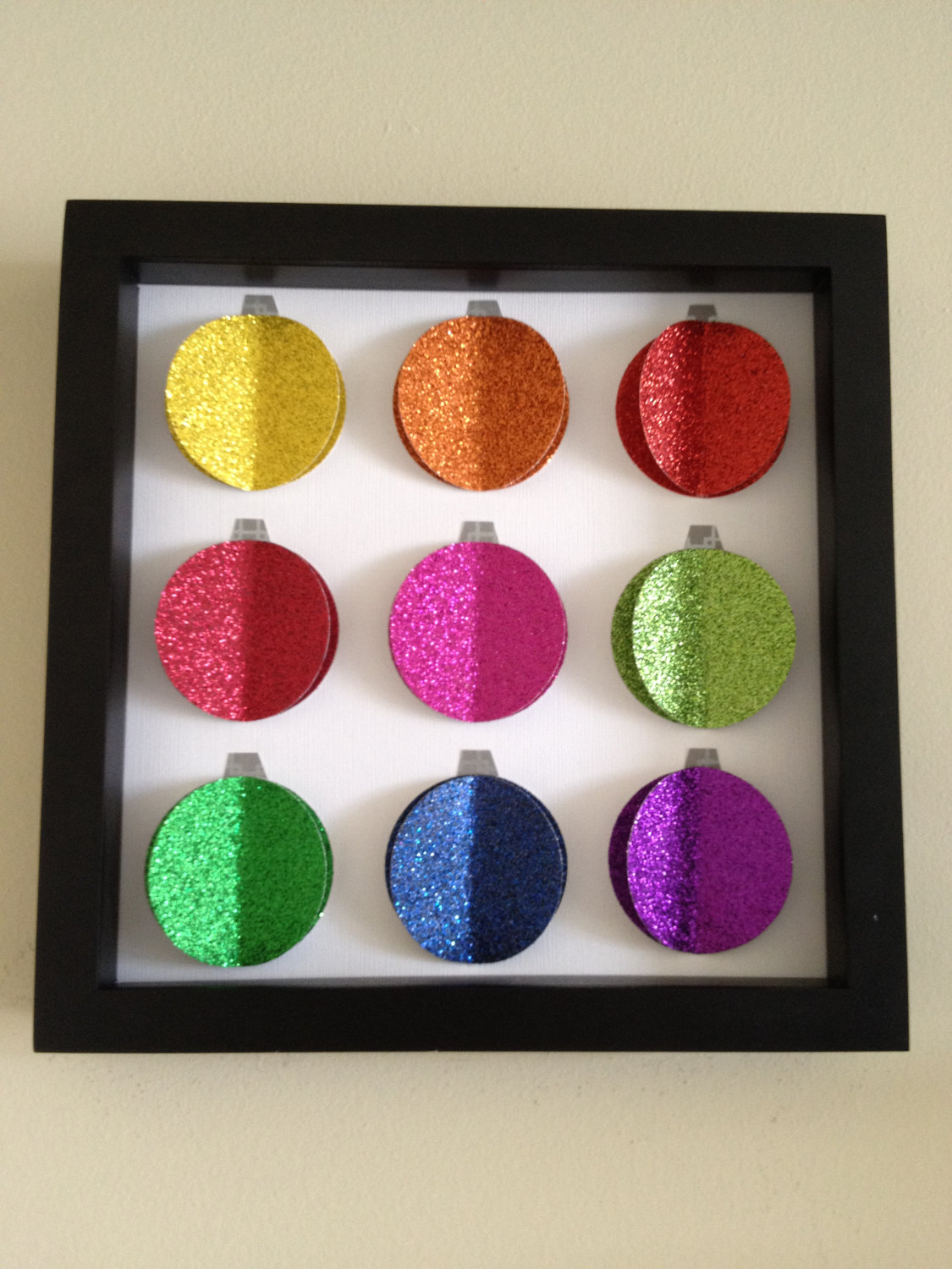 Christmas Ornament, 3D Paper Art, Glitter and colorful fun – LOVE
