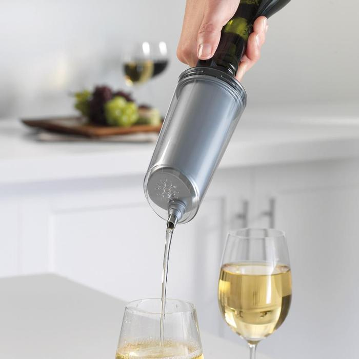 The fastest, smallest wine chiller on the market.