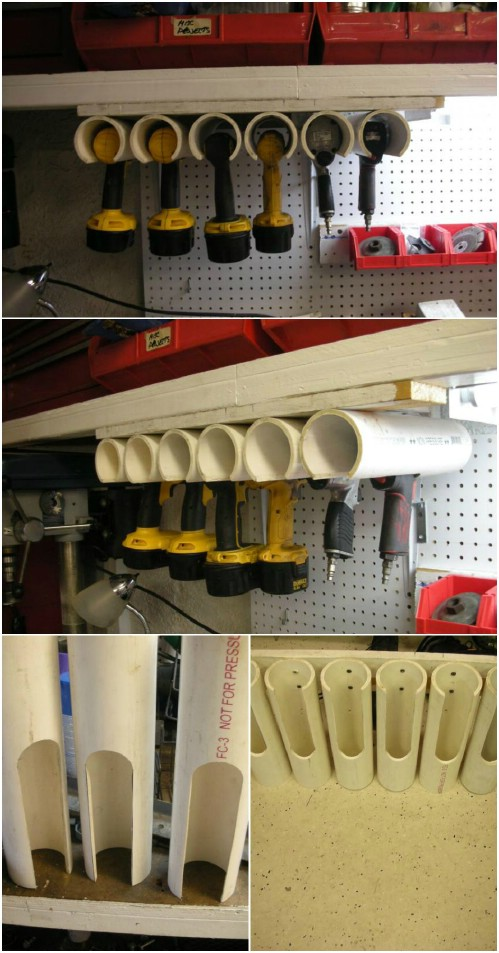 Power Tool Holders -   How use pvc pipe for home and garden