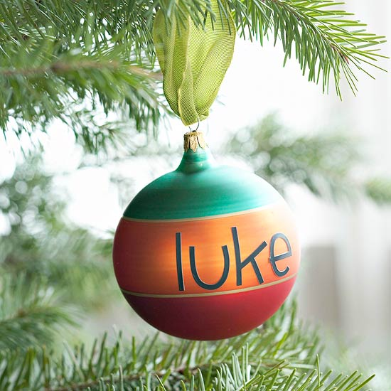Personalized Christmas Ornament -   Easy Christmas Ornaments
