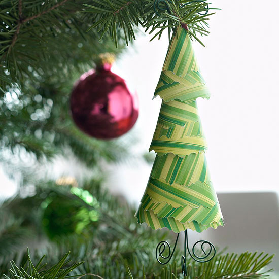 Paper Evergreen Tree Ornament -   Easy Christmas Ornaments