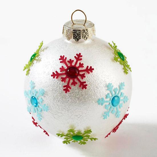 Scrap Snowflake Ornaments -   Easy Christmas Ornaments