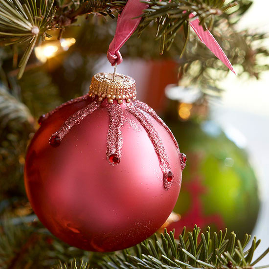 Jeweled Pink Christmas Ornament -   Easy Christmas Ornaments