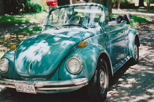 turquoise convertible slug bugs