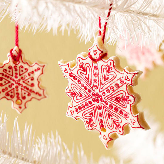 Salt-Dough Snowflake Ornaments -   Easy Christmas Ornaments
