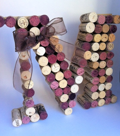 Ask the bartender to save all the wine corks from the wedding. Glue then togethe