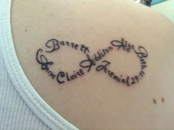 Infinity tattoo ideas