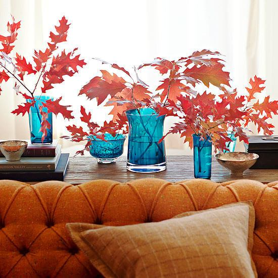 Falling for fall -   HOME DECORATIONS WITH FALL LEAVES