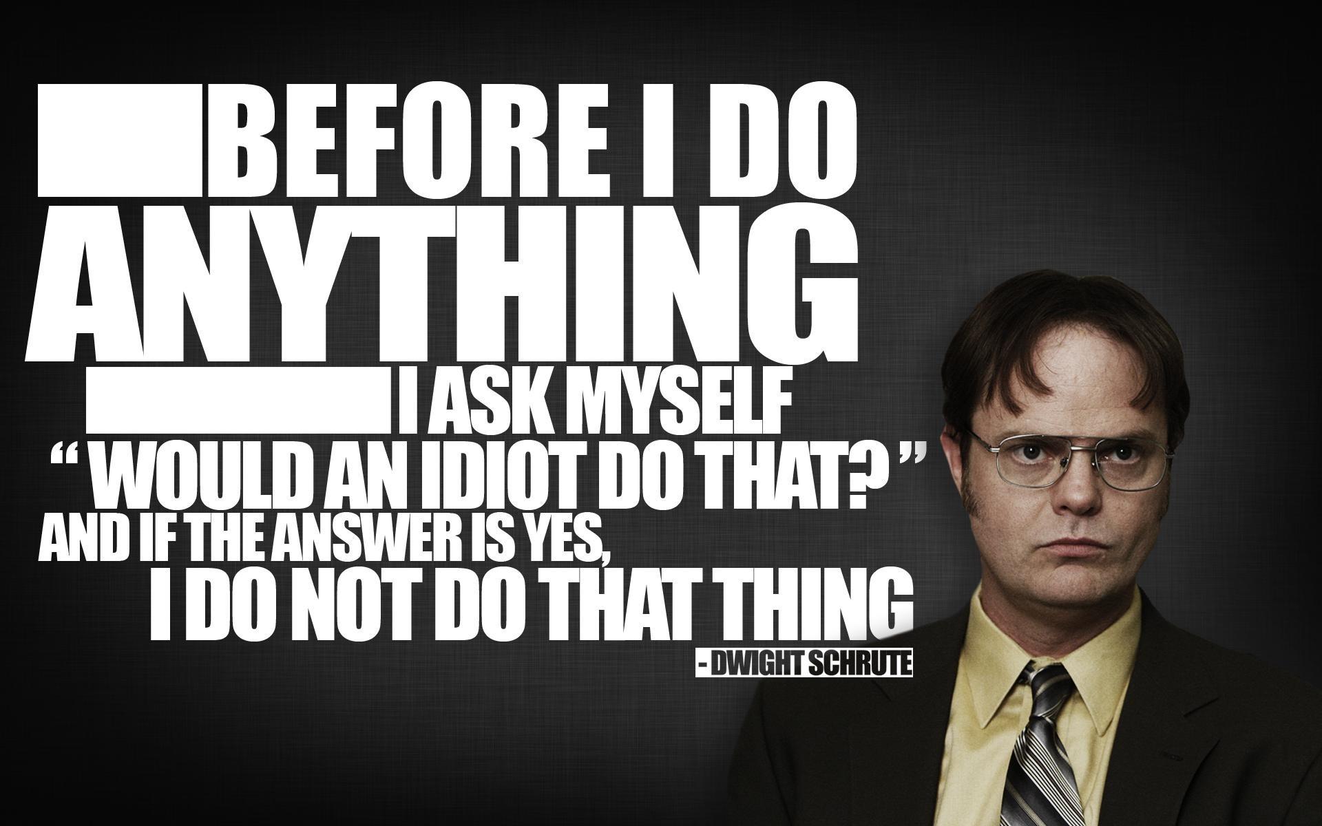 quotes The Office Dwight Schrute Rainn Wilson  / 1920×1200 Wallpaper