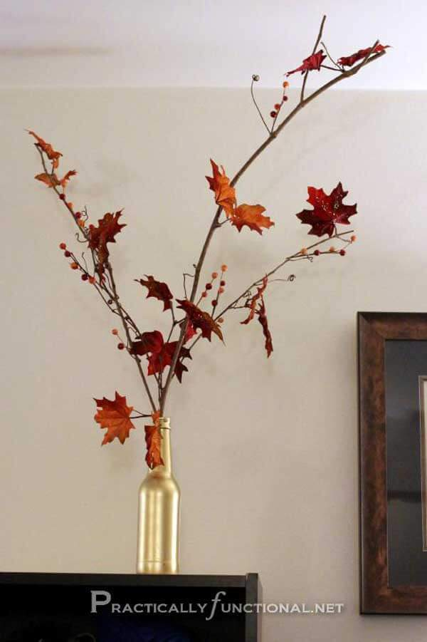 DIY Fall Decor with leave -   HOME DECORATIONS WITH FALL LEAVES