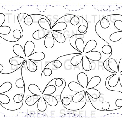 image about Free Printable Pantograph Quilting Patterns titled DAISIES GALORE We Recognize How Towards Do It