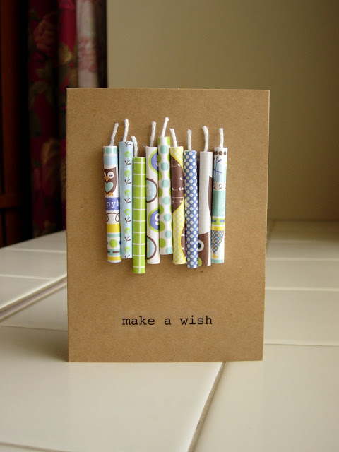 homemade candle birthday card – How to Do Birthday Card