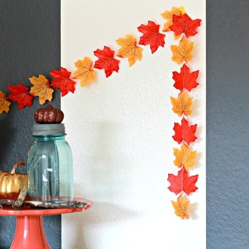 Fall Garland -   HOME DECORATIONS WITH FALL LEAVES