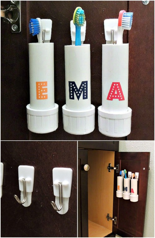 Toothbrush Holders -   How use pvc pipe for home and garden