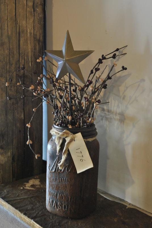Mason jar painted brown