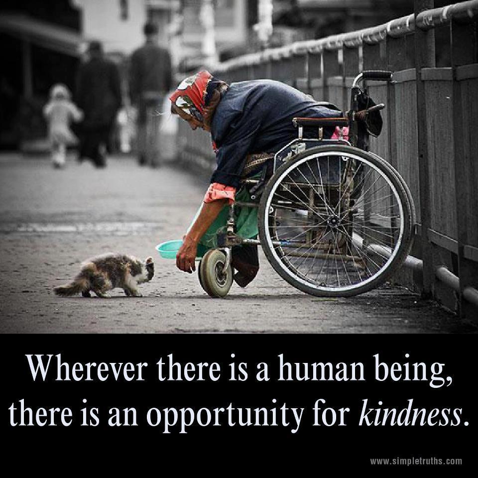 kindness begets kindness
