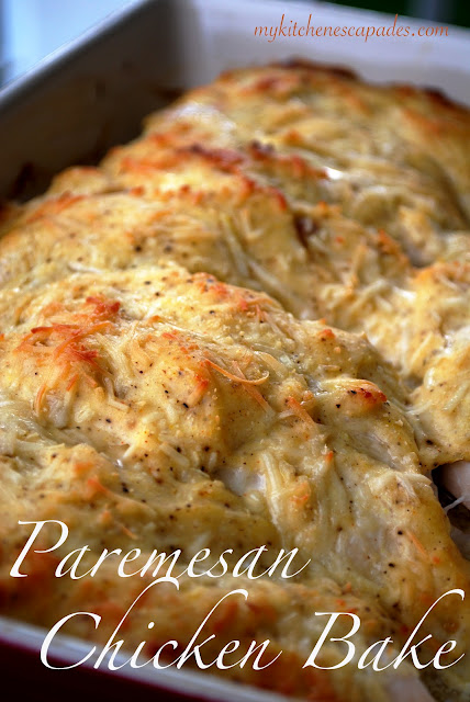 Parmesan Chicken Bake – so quick to throw together and the result is so tender a