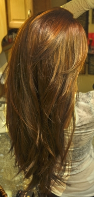Long, layered cut