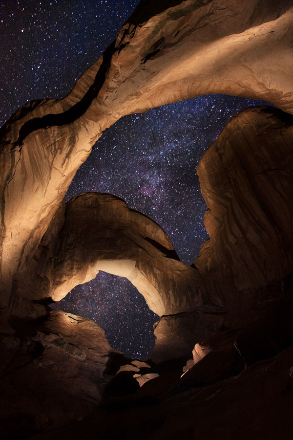 Double Arch under Milky Way by Alex Noriega
