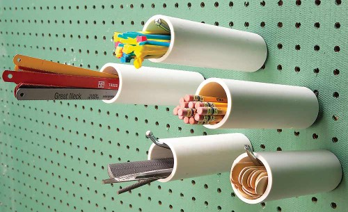Pegboard Cubbyholes -   How use pvc pipe for home and garden