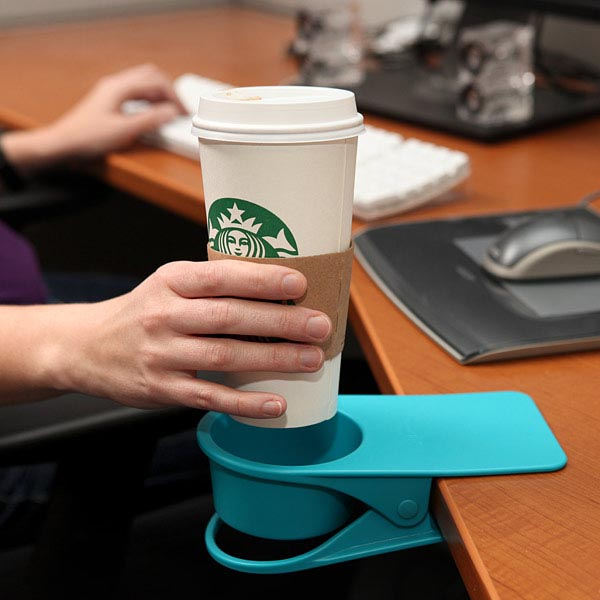 Clients would love this on my station at work! Drinklip Portable Cup Holder