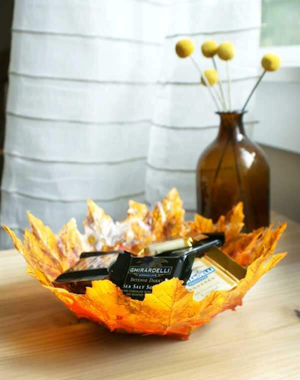 Leaf Bowl -   HOME DECORATIONS WITH FALL LEAVES
