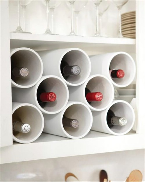 Wine Rack -   How use pvc pipe for home and garden