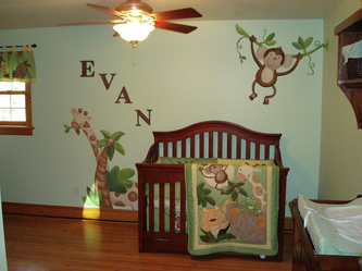 Jungle Babies Nursery Mural