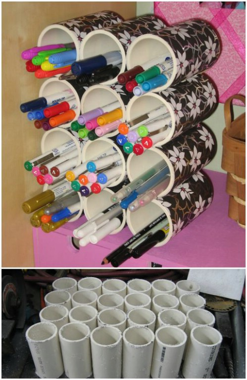 Pen Storage -   How use pvc pipe for home and garden