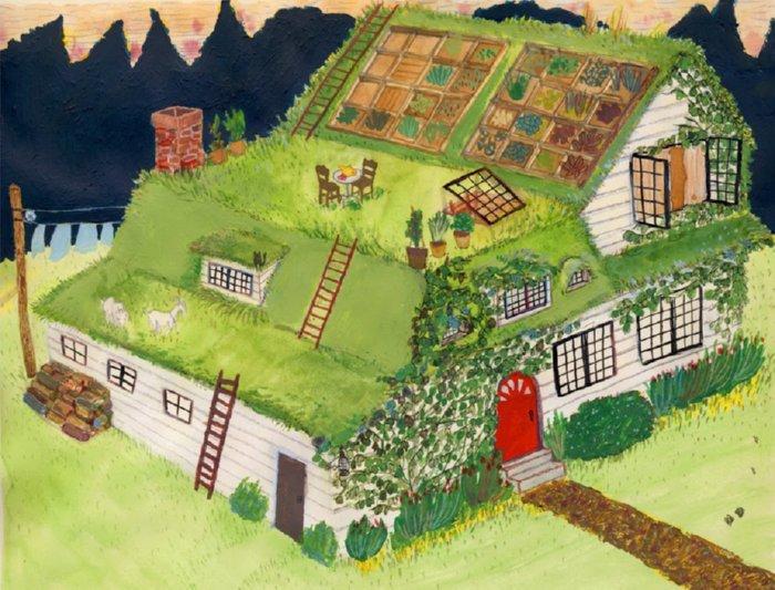 green/living roof