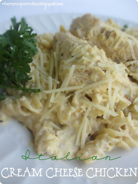 The Recipe Critic: Slow Cooker Italian Cream Cheese Chicken. This is only 4 ingr