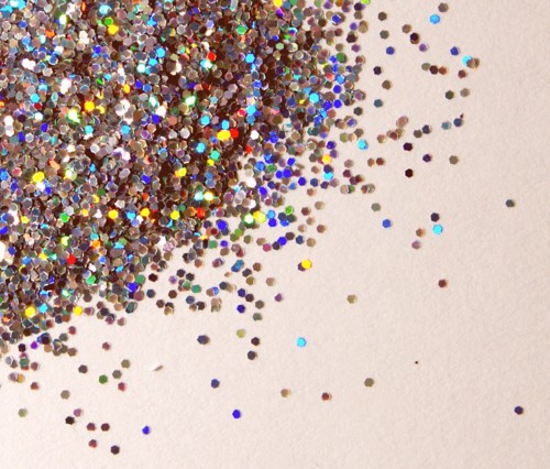 Wait, you can make glitter? – DIY glitter: Preheat the oven to 350. Place salt (