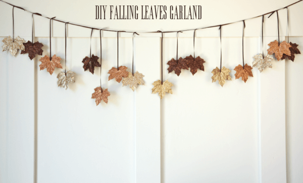 DIY Falling Leaves Garland -   HOME DECORATIONS WITH FALL LEAVES