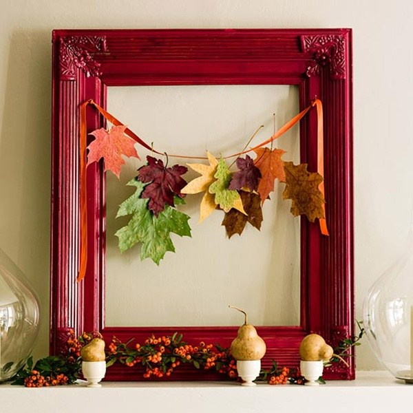 Picture frame -   HOME DECORATIONS WITH FALL LEAVES